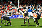 Carlos Bocanegra heads in to score for Rangers