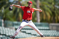 Boston Red Sox pitcher Henry Owens (60) delivers a pitch during an Instructional League game against the Baltimore Orioles on September 22, 2016 at the Ed Smith Stadium in Sarasota, Florida.  (Mike Janes/Four Seam Images)
