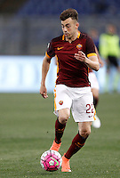 Calcio, Serie A: Roma vs Bologna. Roma, stadio Olimpico, 11 aprile 2016.<br /> Roma&rsquo;s Stephan El Shaarawy in action during the Italian Serie A football match between Roma and Bologna at Rome's Olympic stadium, 11 April 2016.<br /> UPDATE IMAGES PRESS/Isabella Bonotto