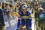 Philippe Gilbert (BEL) Deceuninck-Quick Step at the team presentation in Antwerp before the start of the 2019 Ronde Van Vlaanderen 270km from Antwerp to Oudenaarde, Belgium. 7th April 2019.<br /> Picture: Eoin Clarke | Cyclefile<br /> <br /> All photos usage must carry mandatory copyright credit (&copy; Cyclefile | Eoin Clarke)