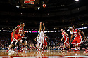 January 20, 2014: Tai Webster (0) of the Nebraska Cornhuskers scoring  on a free throw against the Ohio State Buckeyes at the Pinnacle Bank Arena, Lincoln, NE. Nebraska won in the game against Ohio State 68 to 62.