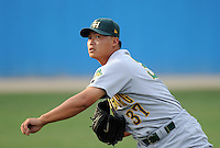 July 16, 2009: LHP Chi-Hung Cheng (37) of the Lynchburg Hillcats, Carolina League affiliate of the Pittsburgh Pirates, in a game at G. Richard Pfitzner Stadium in Woodbridge, Va. Photo by: Tom Priddy/Four Seam Images