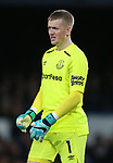 Jordan Pickford of Everton during the premier league match at the Goodison Park Stadium, Liverpool. Picture date 2nd December 2017. Picture credit should read: Simon Bellis/Sportimage