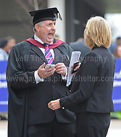 Swansea University, South Wales, UK, Saturday 14th Oct 2017 - <br /> <br /> Hillary Rodham Clinton was today in attendance at Swansea University, where she received an Honorary Doctorate of Laws. One of the many university professors who were in attendance at the ceremony. <br /> <br /> Jeff Thomas Photography -  www.jaypics.photoshelter.com - <br /> e-mail swansea1001@hotmail.co.uk -<br /> Mob: 07837 386244 -