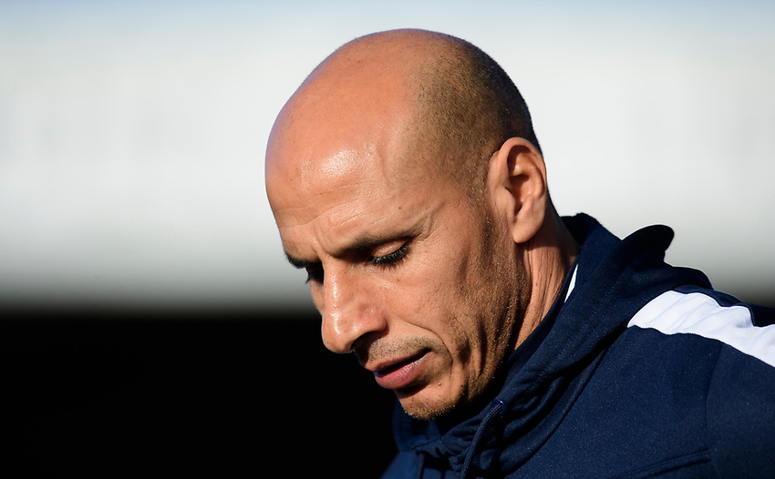 Stevenage manager Dino Maamria<br /> <br /> Photographer Chris Vaughan/CameraSport<br /> <br /> The EFL Sky Bet League Two - Lincoln City v Stevenage - Saturday 16th February 2019 - Sincil Bank - Lincoln<br /> <br /> World Copyright © 2019 CameraSport. All rights reserved. 43 Linden Ave. Countesthorpe. Leicester. England. LE8 5PG - Tel: +44 (0) 116 277 4147 - admin@camerasport.com - www.camerasport.com