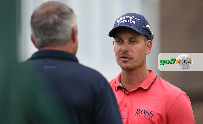 Henrik Stenson (SWE) being interviewed on the pouting area during the preview days of the BMW International Open 2014 from Golf Club Gut Lärchenhof, Pulheim, Köln, Germany. Picture:  David Lloyd / www.golffile.ie