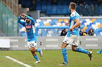 Lorenzo Insigne of Napoli scores a goal<br /> Napoli 14-01-2020 Stadio San Paolo <br /> Football Italy Cup 2019/2020 SSC Napoli - AC Perugia<br /> Photo Cesare Purini / Insidefoto