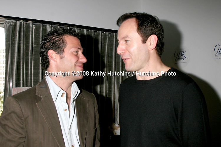 Gavin B. Keilly & Jason Isaacs..GBK Gifting Suite.Thompson Hotel.Beverly Hills, CA.January 11, 2008.©2008 Kathy Hutchins / Hutchins Photo...