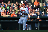 Baltimore Orioles outfielder Travis Snider (23) during a Spring Training game against the Atlanta Braves on April 3, 2015 at Ed Smith Stadium in Sarasota, Florida.  Baltimore defeated Atlanta 3-2.  (Mike Janes/Four Seam Images)