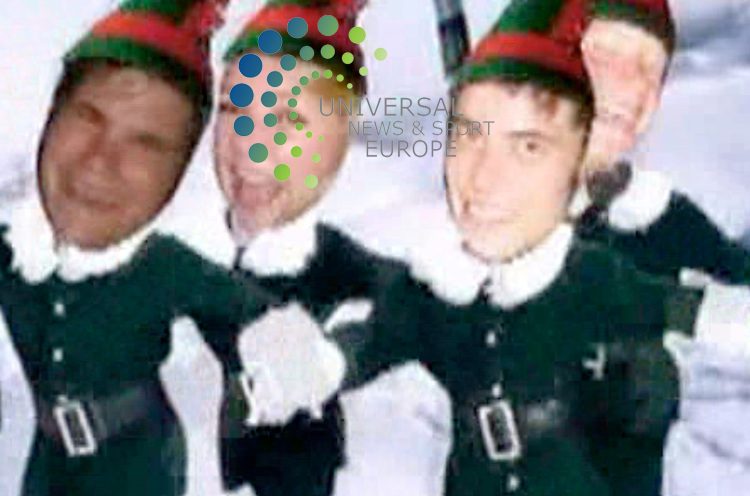 Prince Harry and Chelsy Davy have sent out a joint electronic Christmas card, in which they appear as breakdancing elves, to hundreds of their friends. In the greeting, photos of the pair's heads - along with those of along with those of Chelsy's brother, Shaun, and her best friends Kirsten and Pegs - are superimposed on the bodies of the dancing figures. The card  plays out to the tune of a jazzed up version of Jingle Bells...Picture  18 December  2009: Universal News and Sport (Scotland).All pictures must be credited to  www.universalnewsandsport.com.(0ffice) 0844 884 51 22..