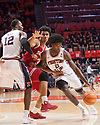 Jan 24, 2018; Champaign, IL, USA; Illinois Fighting Illini forward Leron Black (12) sets a pick on Indiana Hoosiers forward Justin Smith (3) as Illinois Fighting Illini forward Kipper Nichols (2) drives to the bakset during the first half at State Farm Center. Mandatory Credit: Mike Granse-USA TODAY Sports