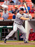 16 May 2007: Atlanta Braves first baseman Scott Thorman in action against the Washington Nationals at RFK Stadium in Washington, DC. The Nationals rallied to defeat the Braves 6-4 to take a 2-1 lead in their four-game series...Mandatory Photo Credit: Ed Wolfstein Photo