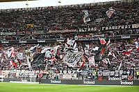 Fans von Eintracht Frankfurt - 27.04.2019: Eintracht Frankfurt vs. Hertha BSC Berlin, 31. Spieltag Bundesliga, Commerzbank Arena DISCLAIMER: DFL regulations prohibit any use of photographs as image sequences and/or quasi-video.