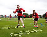 John Fleck and Louis Reed during the training session at the Shirecliffe Training complex, Sheffield. Picture date: June 27th 2017. Pic credit should read: Simon Bellis/Sportimage