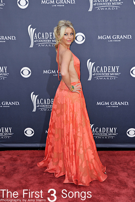 Julianne Hough attends the 46th Annual Academy of Country Music Awards in Las Vegas, Nevada on April 3, 2011.