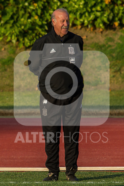 Spain's Vicente del Bosque during the first training of the concentration of national soccer team before the Uefa Euro 2016.  Jun 4,2016. (ALTERPHOTOS/Rodrigo Jimenez)