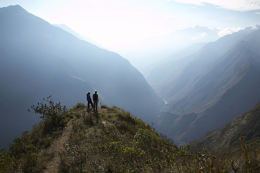 View from the remote Incan ruins of Choquequirao in the Peruvian Andes.