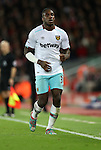 Michail Antonio of West Ham United during the Premier League match at Anfield Stadium, Liverpool. Picture date: December 11th, 2016.Photo credit should read: Lynne Cameron/Sportimage