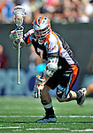 24 August 2008: Denver Outlaws' Midfielder Geoff Snider in action against the Rochester Rattlers at the Championship Game of the Major League Lacrosse Championship Weekend at Harvard Stadium in Boston, MA. The Rattles took control of the second half to defeat the Outlaws 16-6 and take the league honor for the 2008 season...Mandatory Photo Credit: Ed Wolfstein Photo