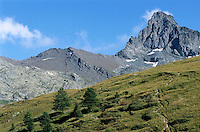 Mountain peak near Saint-Veran, French Alps, France.