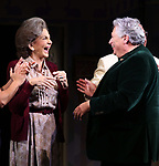 "Mercedes Ruehl and Harvey Fierstein during the Broadway Opening Night Curtain Call for ""Torch Song"" at the Hayes Theater on November 1, 2018 in New York City."