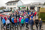 The people who walked From The Black Water Tavern to Loughbrin Lake on St Stephen Day for a very worthy cause Kerry Hospice.