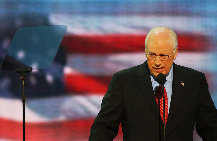9/01/04.2004 REPUBLICAN NATIONAL CONVENTION--Vice President Richard B. Cheney makes his acceptance speech during the Republican National Convention..CONGRESSIONAL QUARTERLY PHOTO BY SCOTT J. FERRELL