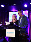 Susan Stroman and Ed Sylvanus Iskandar during the SDC Foundation Awards on October 30, 2017 at The Green Room 42 in New York City.