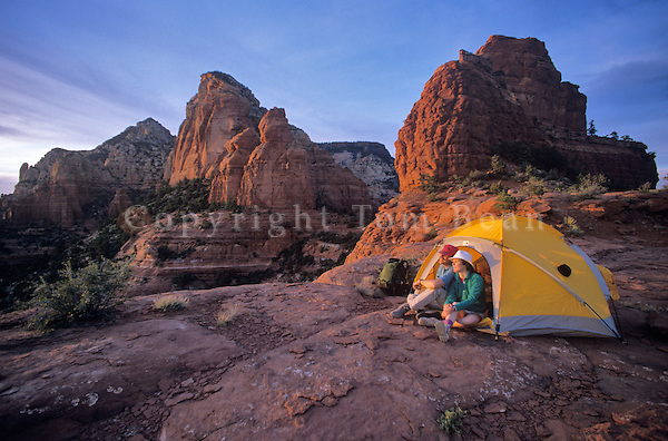 Campsite on Steamboat Rock, Red Rock-Secret Mountain Wilderness, Coconino National Forest, Sedona, Arizona, AGPix_0157 .
