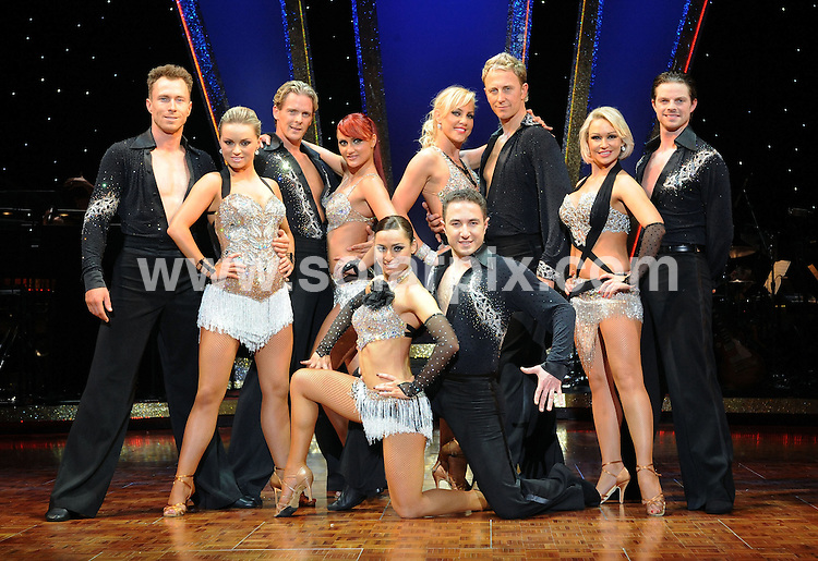 **ALL ROUND PICTURES FROM SOLARPIX.COM**.**WORLDWIDE SYNDICATION RIGHTS**.Strictly Come Dancing - The Professionals Tour, featuring 10 popular dancers from the hit BBC1 series starts its tour at The Brighton Centre on 29th April and continues to theatres across the UK until July 2010, The Brighton Centre, Brighton, UK. 29th April 2010...This pic: L to R: James Jordan, Ola Jordan, Matthew Cutler, Aliona Vilani, Flavia Cacace, Vincent Simone, Natalie Lowe, Ian Waite, Kristina Rihanoff and Brian Fortuna..JOB REF: 11204 TLP     DATE: 29_04_2010.**MUST CREDIT SOLARPIX.COM OR DOUBLE FEE WILL BE CHARGED**.**MUST NOTIFY SOLARPIX OF ONLINE USAGE**.**CALL US ON: +34 952 811 768 or LOW RATE FROM UK 0844 617 7637**