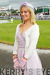 Kate Ferguson finalists in the best dressed lady competition pictured at Listowel races on Sunday.