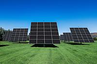 Solar farm, Middlebury, Vermont, USA.