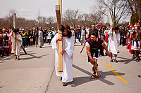 Good Friday Reenactment of Christ Carrying the Cross Palatine, Illinois 3-30-18