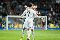 Higuain and Cristiano celebrates goal