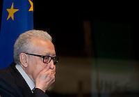Berlin, Lakhdar Brahimi, der Syrien-Sondergesandte der Vereinten Nationen und der Arabischen Liga am Donnerstag (27.02.2014) bei einer Diskussion zu Syrien nach Genf II im Bundestag. Foto: Steffi Loos/CommonLens
