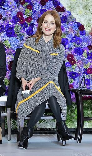 """Actress Julianne Moore attends the """"Florale by Triumph Lingerie Collection"""" launch event at the Aoyama Geihinkan in Tokyo, Japan on September 27, 2018."""