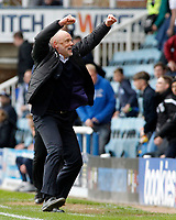 Fleetwood Town manager Uwe Rosler celebrates at the final whistle<br /> <br /> Photographer David Shipman/CameraSport<br /> <br /> The EFL Sky Bet League One - Peterborough United v Fleetwood Town - Friday 14th April 2016 - ABAX Stadium  - Peterborough<br /> <br /> World Copyright &copy; 2017 CameraSport. All rights reserved. 43 Linden Ave. Countesthorpe. Leicester. England. LE8 5PG - Tel: +44 (0) 116 277 4147 - admin@camerasport.com - www.camerasport.com