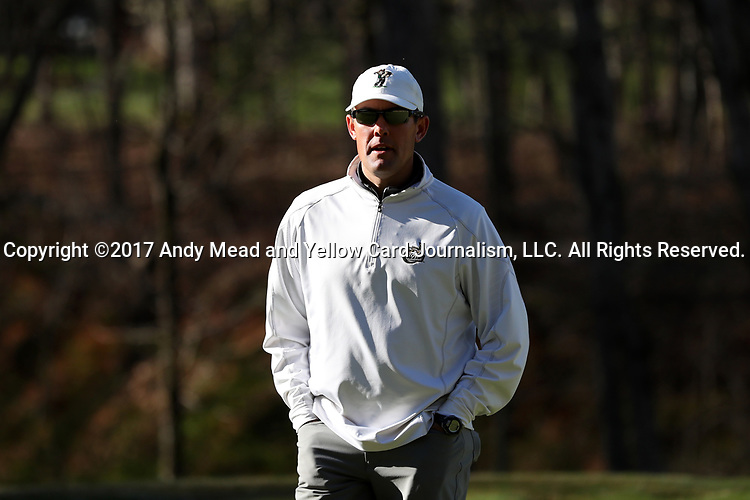 KANNAPOLIS, NC - APRIL 09: Charlotte head coach Ryan Cabbage. The third round of the Irish Creek Intercollegiate Men's Golf Tournament was held on April 9, 2017, at the The Club at Irish Creek in Kannapolis, NC.
