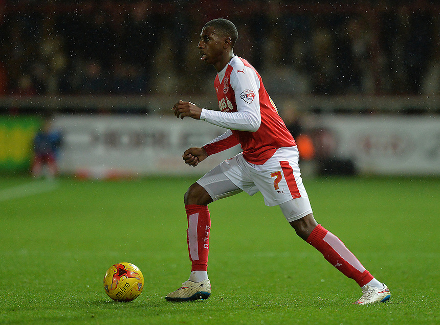 Fleetwood Town's Amari'i Bell<br /> <br /> Photographer Dave Howarth/CameraSport<br /> <br /> Football - The Football League Sky Bet League One - Fleetwood Town v Millwall - Tuesday 24th November 2015 - Highbury Stadium<br /> <br /> &copy; CameraSport - 43 Linden Ave. Countesthorpe. Leicester. England. LE8 5PG - Tel: +44 (0) 116 277 4147 - admin@camerasport.com - www.camerasport.com