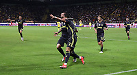 Calcio, Serie A: Frosinone-Juventus, Benito Stirpe stadium, Frosinone, September 23, 2018. <br /> Juventus' Cristiano Ronaldo (r) celebrates after scoring with his teammate Federico Bernardeschi (l) during the Italian Serie A football match between Frosinone and Juventus at Frosinone stadium on September 23, 2018.<br /> UPDATE IMAGES PRESS/Isabella Bonotto