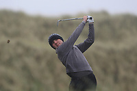 Joe Rooney (Co Armagh) on the 13th tee during Round 2 of the Ulster Boys Championship at Portrush Golf Club, Portrush, Co. Antrim on the Valley course on Wednesday 31st Oct 2018.<br /> Picture:  Thos Caffrey / www.golffile.ie<br /> <br /> All photo usage must carry mandatory copyright credit (&copy; Golffile | Thos Caffrey)