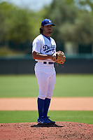 AZL Dodgers Lasorda relief pitcher Alec Gamboa (34) during an Arizona League game against the AZL Royals on July 4, 2019 at Camelback Ranch in Glendale, Arizona. The AZL Royals defeated the AZL Dodgers Lasorda 4-1. (Zachary Lucy/Four Seam Images)