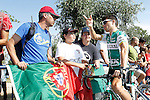 Andre Fernando Cardoso with the portuguese fans before the stage of La Vuelta 2012 beetwen La Faisanera Golf (Segovia)-La Bola del Mundo.September 8,2012. (ALTERPHOTOS/Acero)