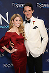 Caissie Levy and John Riddle attends the Broadway Opening Night After Party for 'Frozen' at Terminal 5 on March 22, 2018 in New York City.