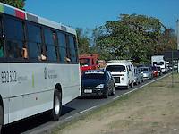 Rio de Janeiro (RJ) 23.08.202. Trânsito/Congestionamento<br />- Congestionamento Intenso  no Bairro de Deodoro,Zona Oeste do Rio de Janeiro,hoje dia (23/08).Foto: Arion Marinho/Futura Press.
