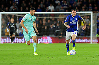 Lee Tomlin of Cardiff City in action during the Sky Bet Championship match between Cardiff City and Queens Park Rangers at the Cardiff City Stadium in Cardiff, Wales, UK. Wednesday 02 October, 2019