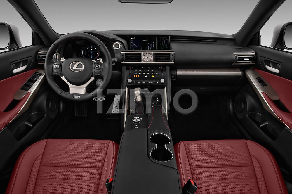 Stock photo of straight dashboard view of 2017 Lexus IS 350 4 Door Sedan Dashboard