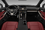Stock photo of straight dashboard view of 2017 Lexus IS 350 4 Door Sedan Dashboard