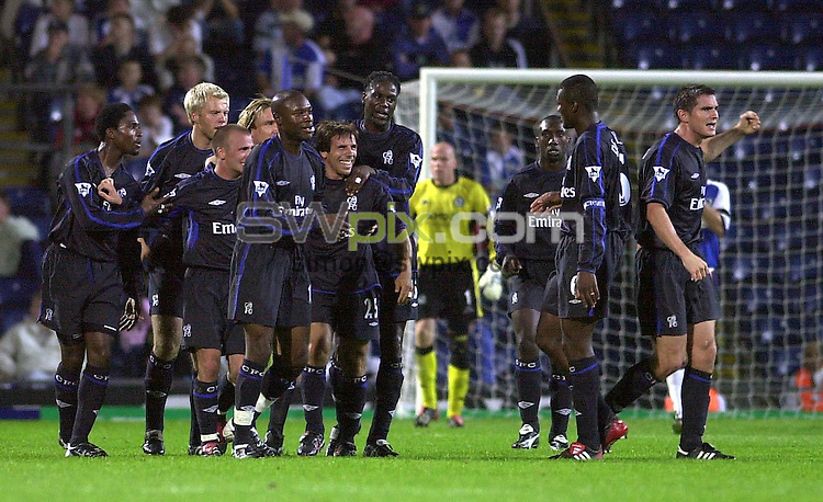 Pix: Matthew Lewis/SWpix.com. Soccer. FA Barclaycard Premiership. Blackburn Rovers v Chelsea. 11/09/2002...COPYWRIGHT PICTURE>>SIMON WILKINSON>>01943 436649>>..Chelsea's Gianfranco Zola is all smiles after scoring his teams third goal against Blackburn.