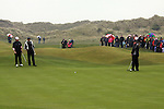 Miguel Angel Jimenez Playing his4th shot on the green on the 4rd hole during day two of the 3 Irish Open..Pic Fran Caffrey/golffile.ie